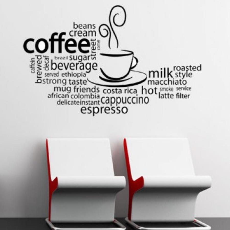 Decal dán tường coffee 9
