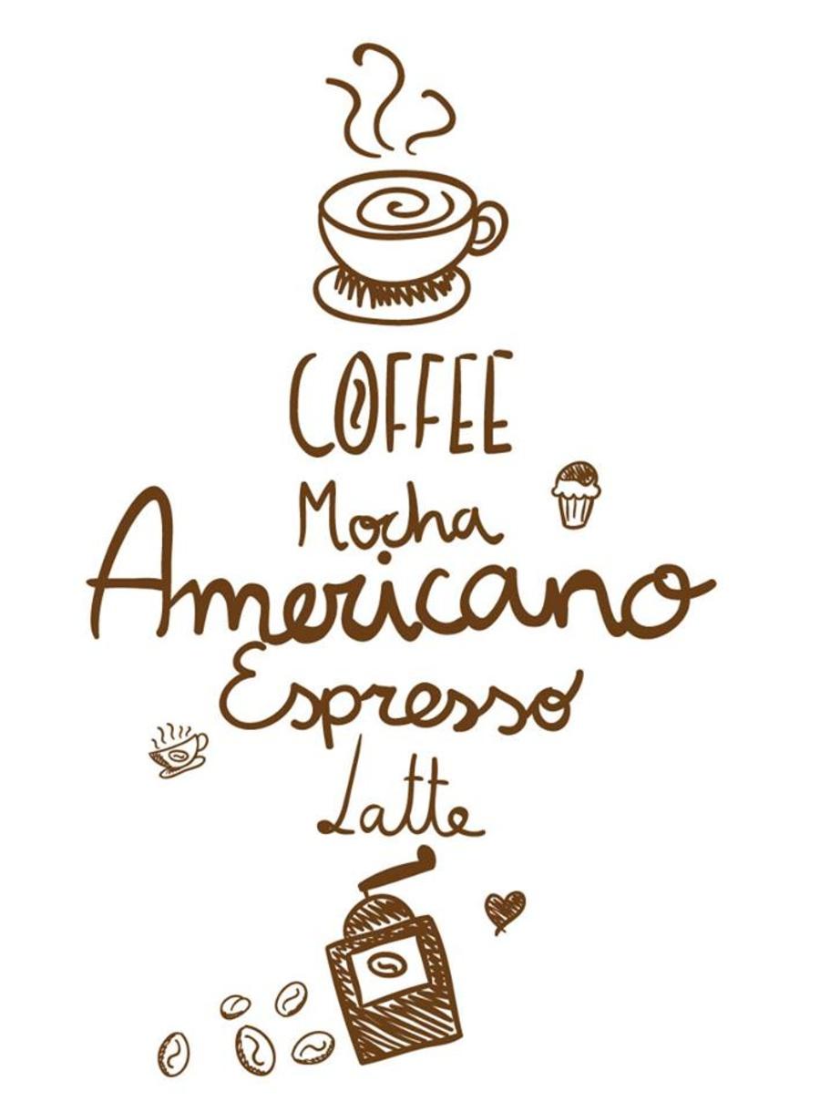 Decal dán tường Coffee 4 (cà phê)