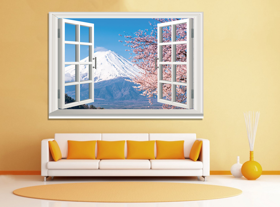 Tranh cửa sổ núi phú sĩ