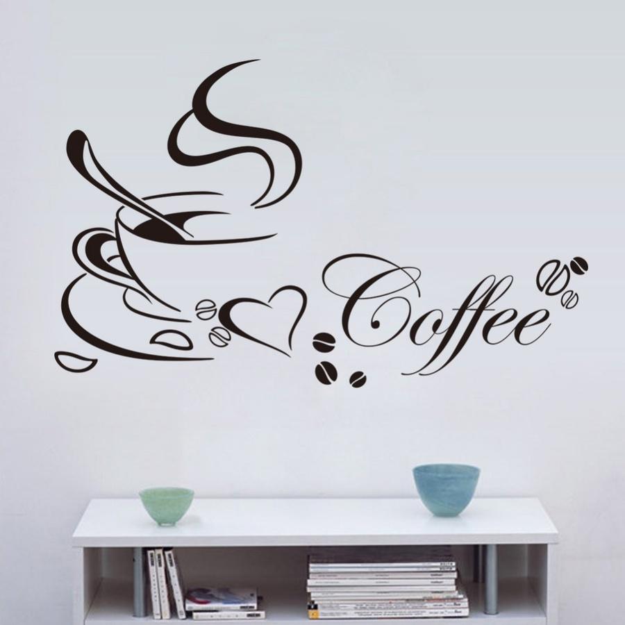 Decal dán tường Coffee