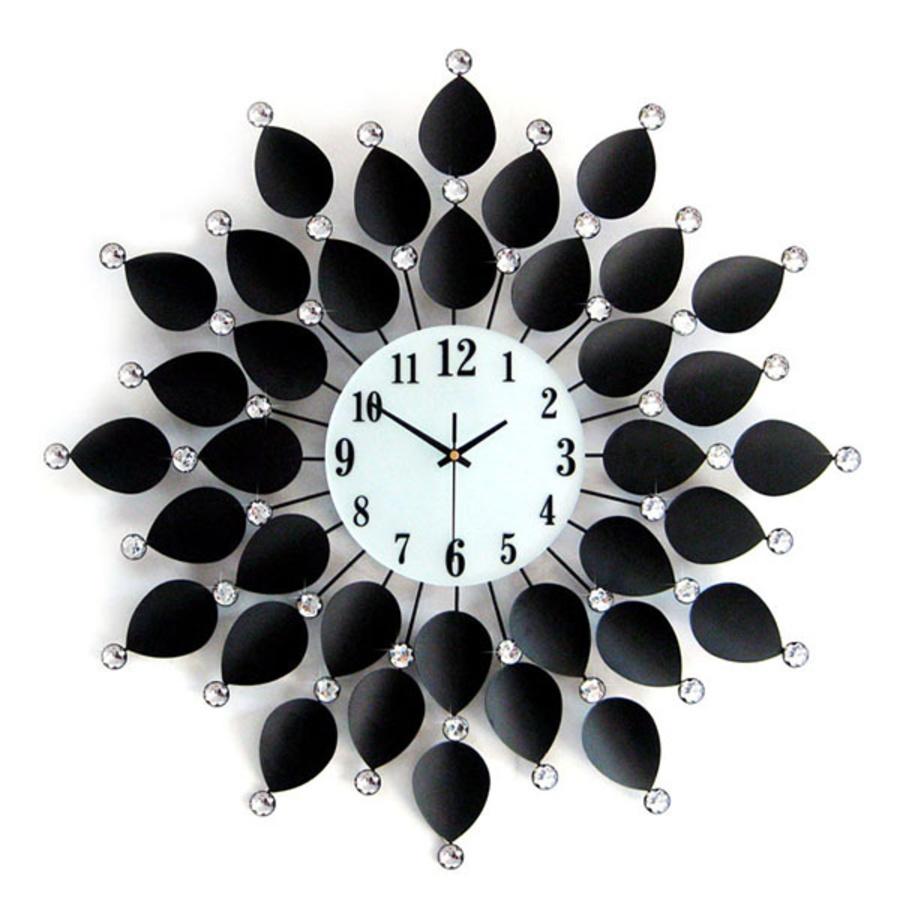 Đồng hồ treo tường đính đá 14