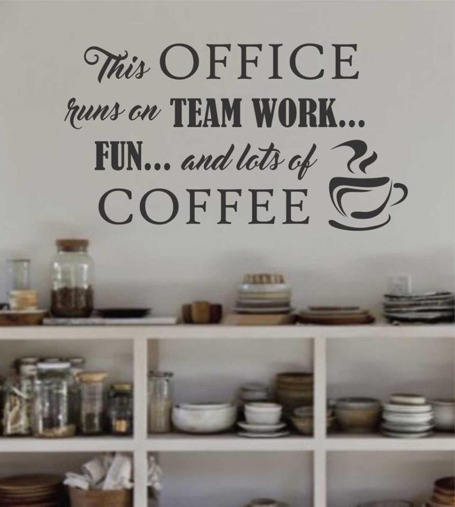 Decal dán tường Coffee 8