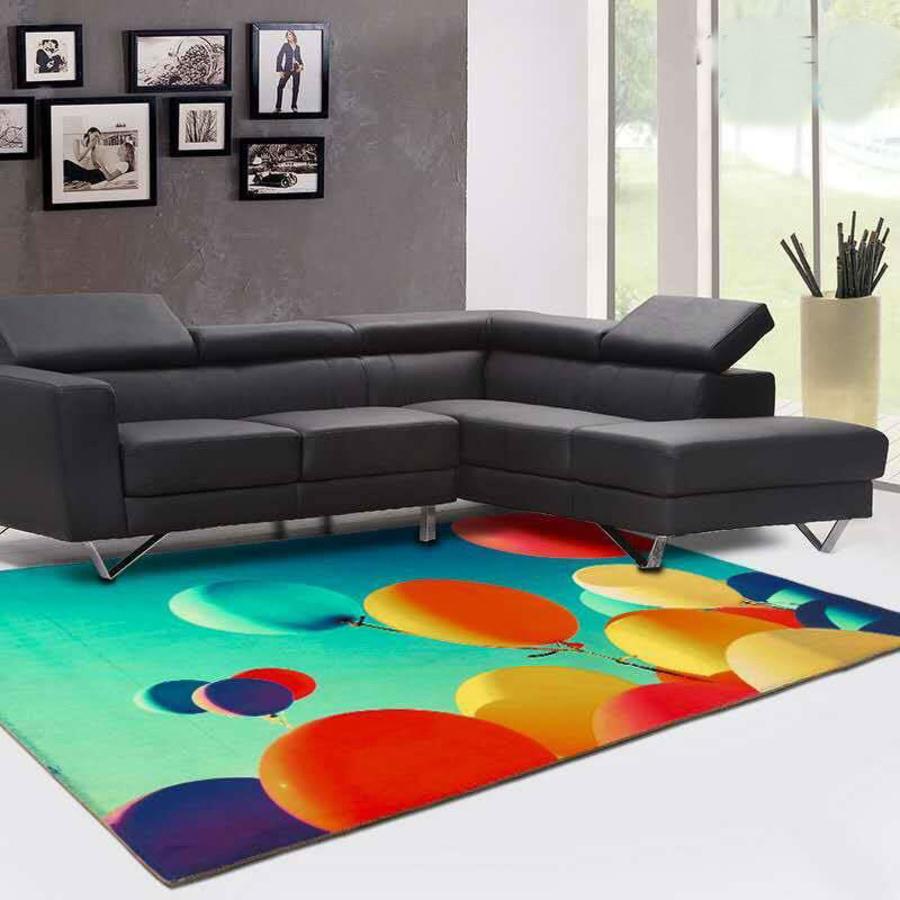 Thảm nhung bóng bay sắc màu