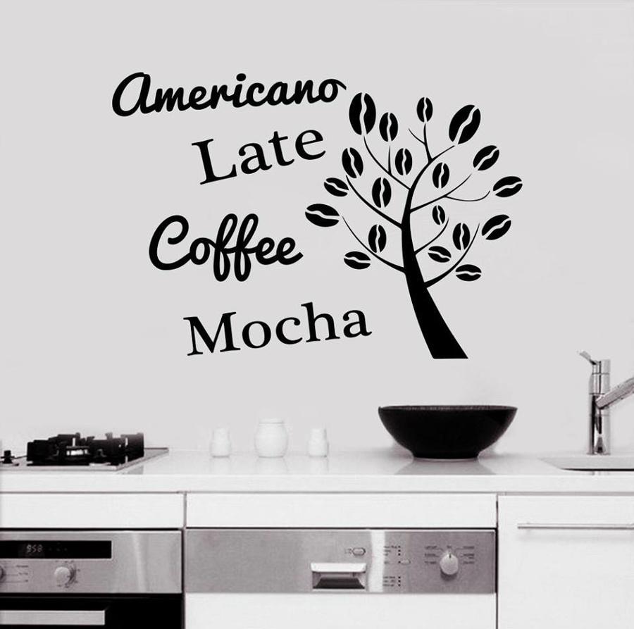 Decal dán tường Coffee 6