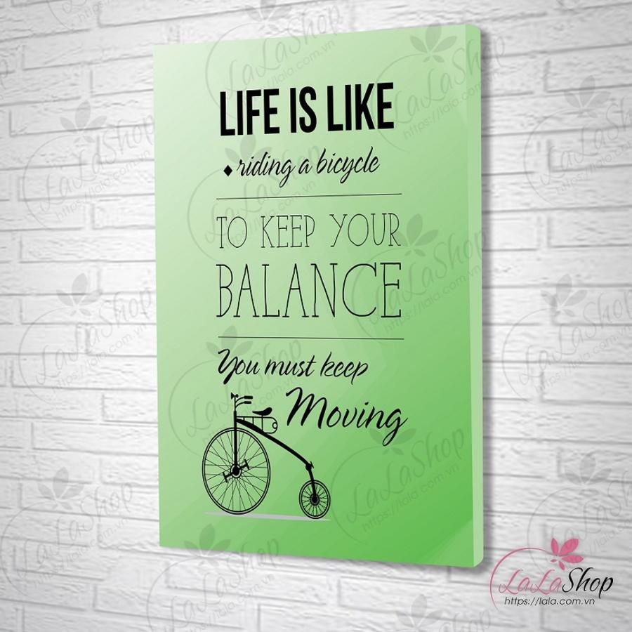 Tranh treo tường to keep your balance 2