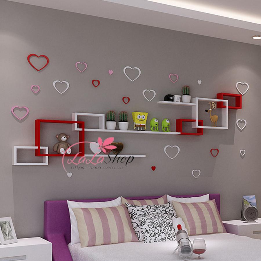 Kệ trang trí phòng ngủ TTPN08