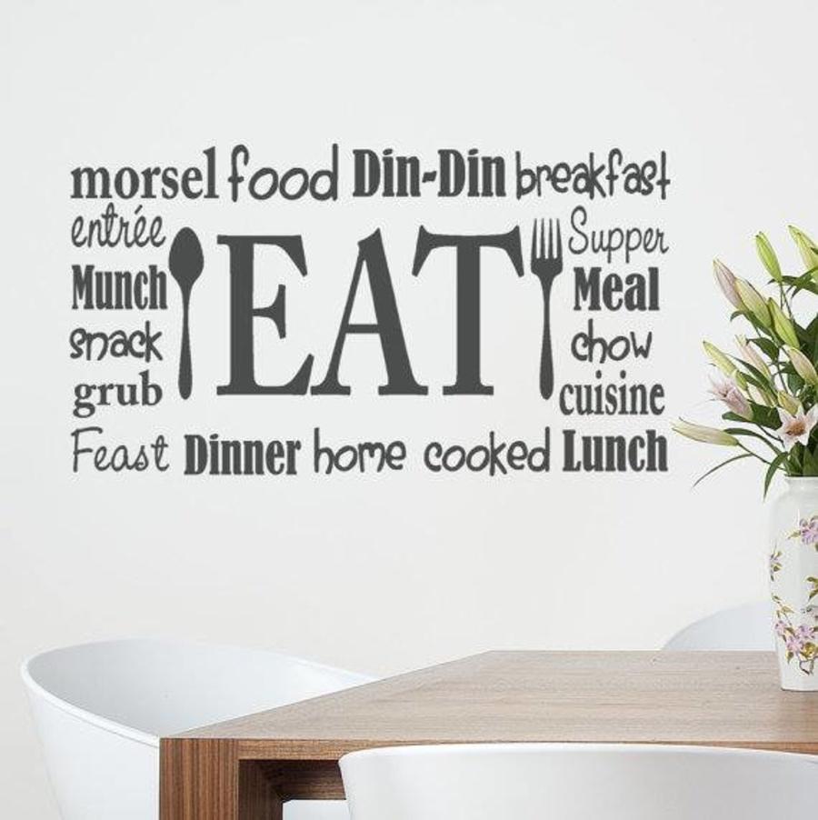 Decal dán tường EAT