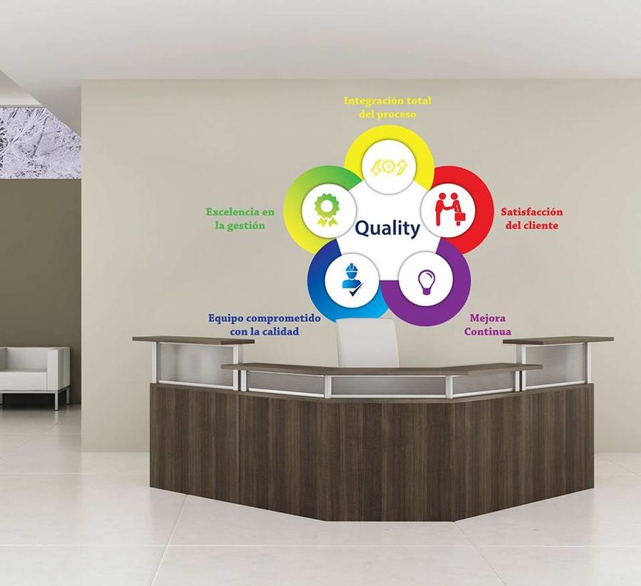 Decal văn phòng Quality