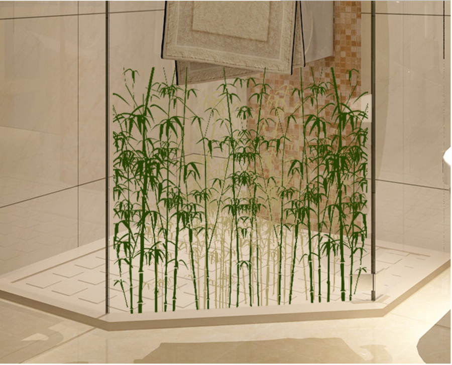 Decal kính mờ rừng trúc