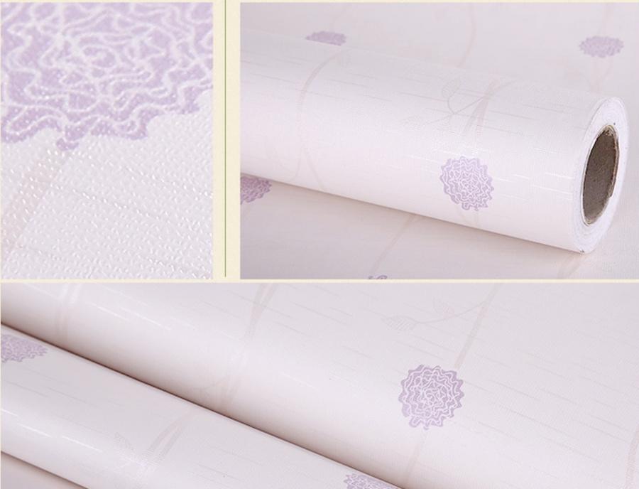 Giấy decal cuộn dây leo hoa tím 4
