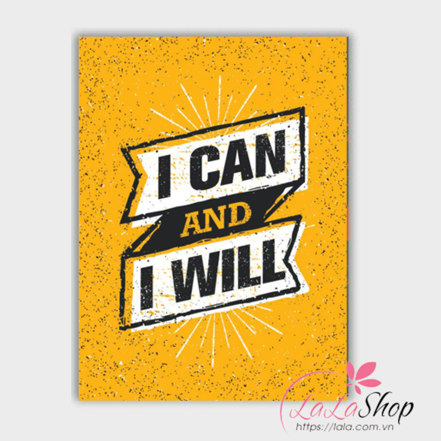 Decal văn phòng I can and i will
