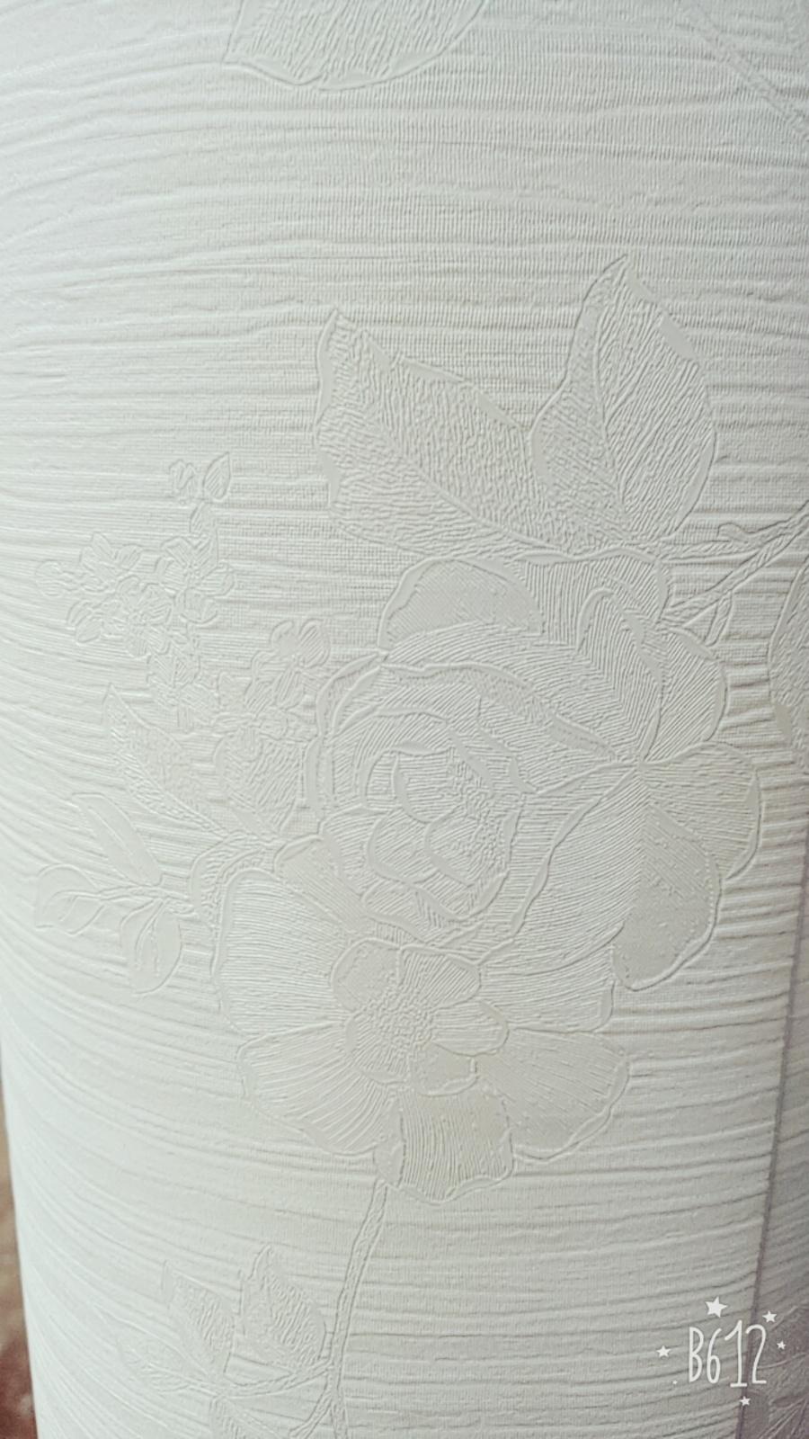 Giấy decal cuộn hoa hồng trắng 2 khổ 1m2