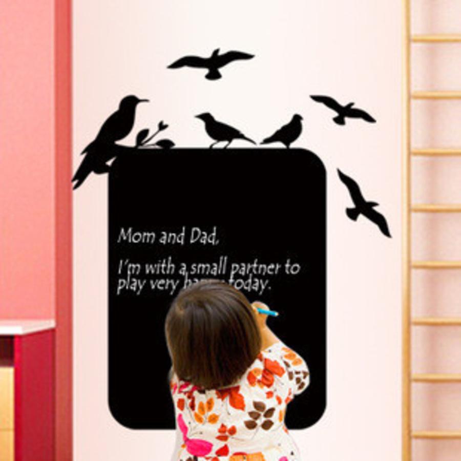 Decal bảng viết gia đình chim