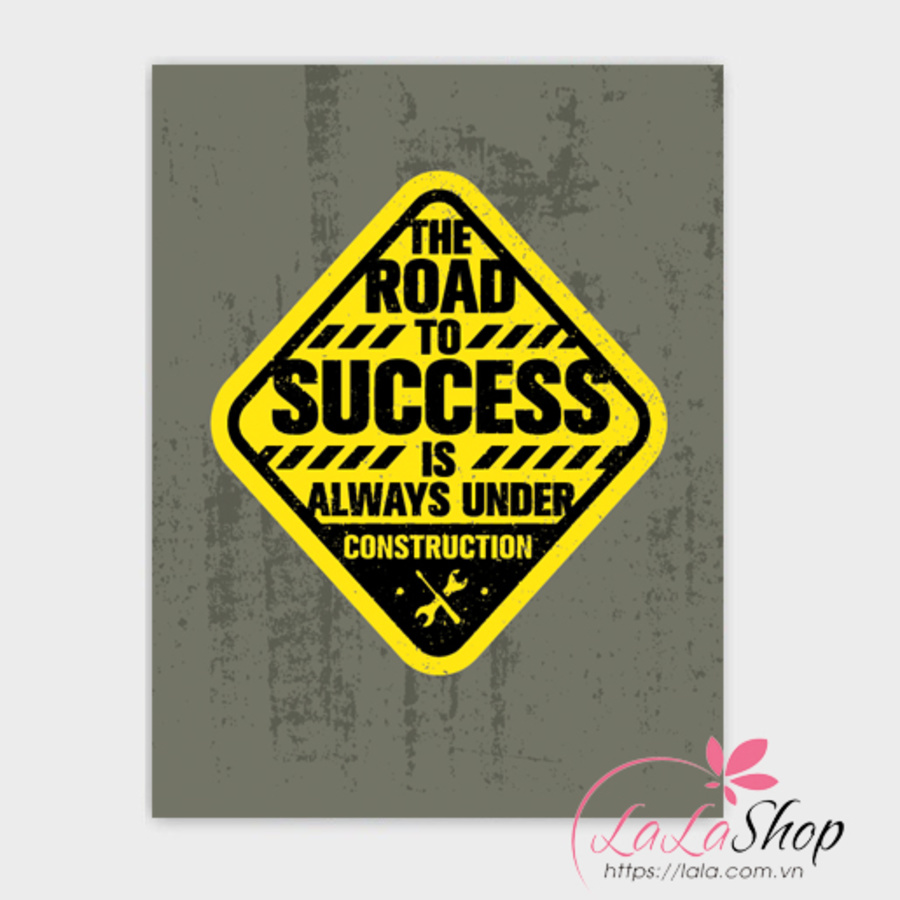 Decal văn phòng The road success