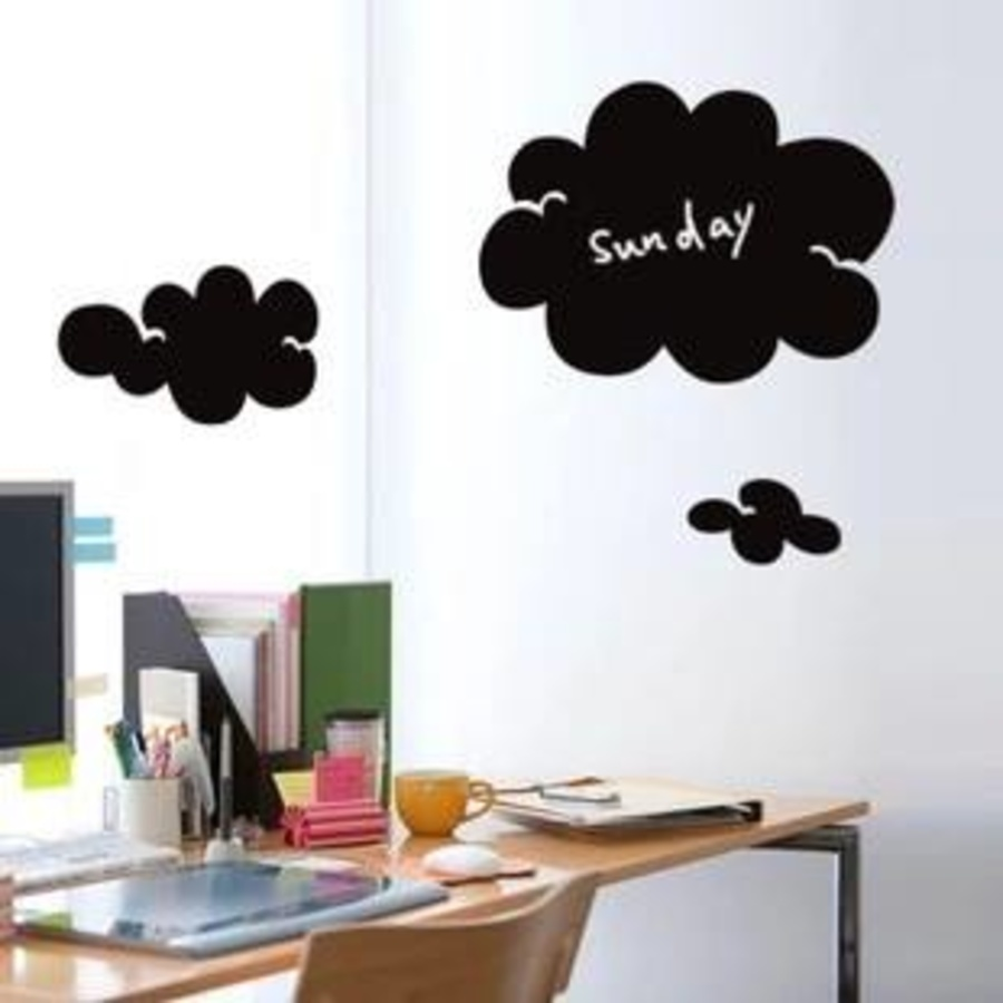 Decal bảng viết hình mây