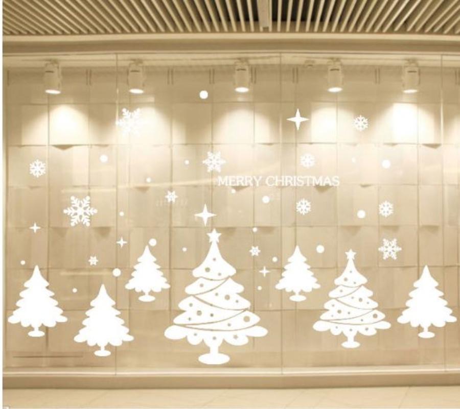 Decal Merry Christmas và cây thông Noel 2