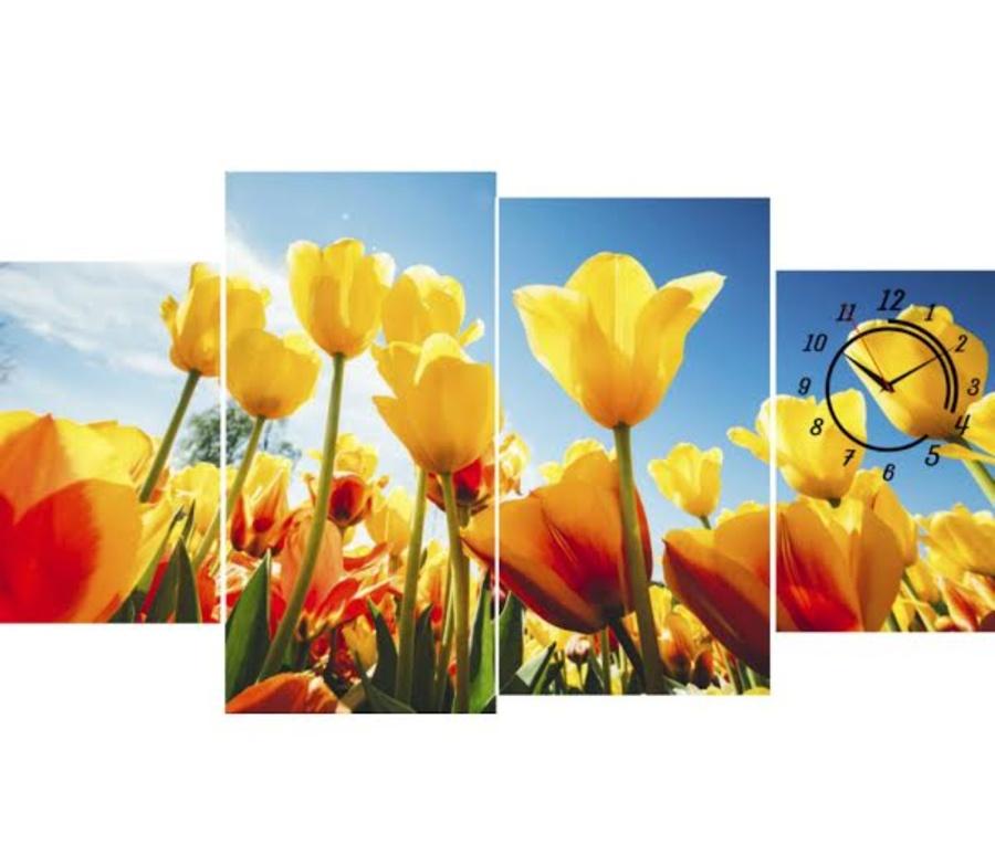 Đồng hồ vườn hoa tulip