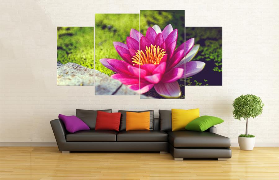 Tranh treo tường hoa sen hồng