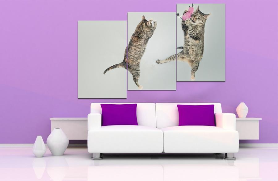 Tranh treo tường đôi mèo