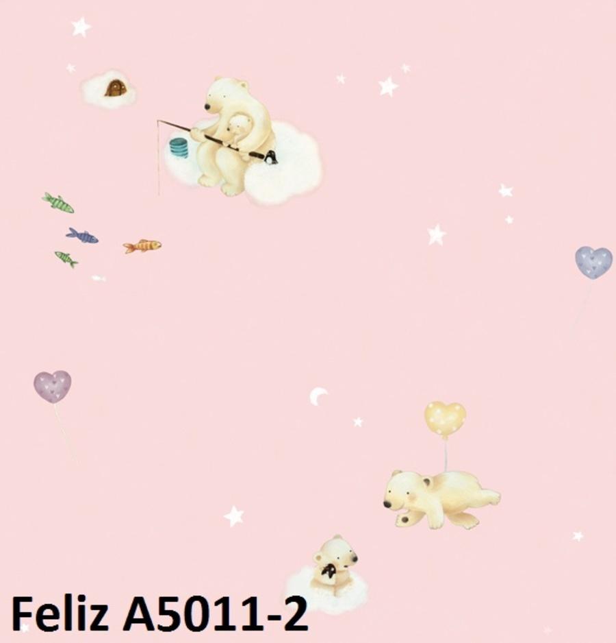 Giấy dán tường gấu trên mây A5011-2