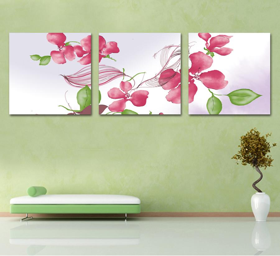 Tranh treo tường hoa cánh hồng