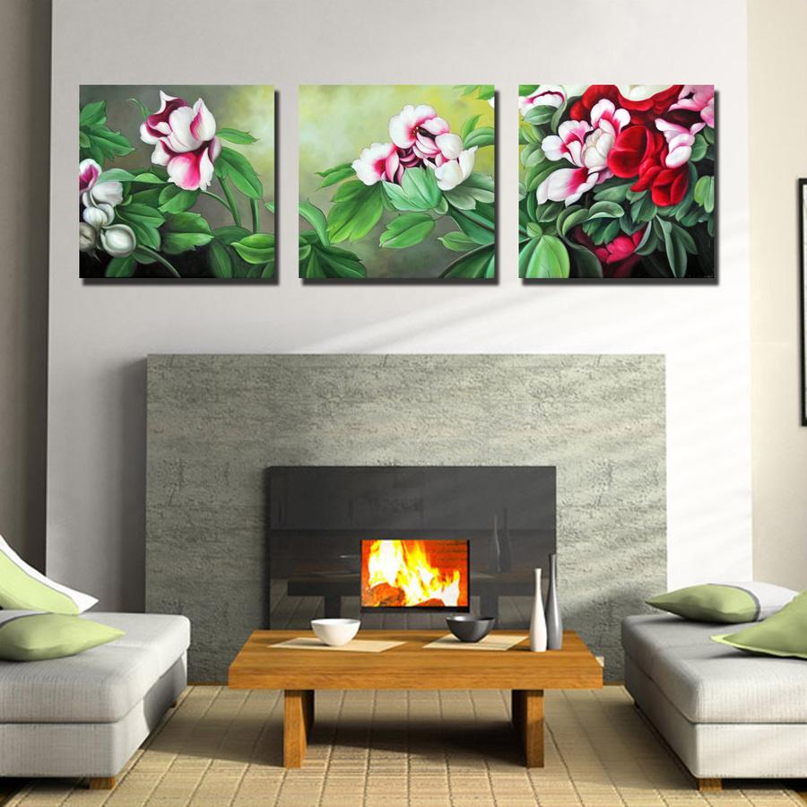 Tranh treo tường hoa trà 3D