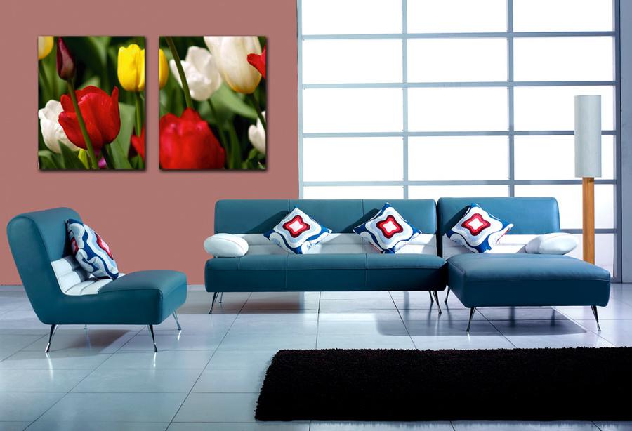 Tranh treo tường hoa tulip đa sắc 4