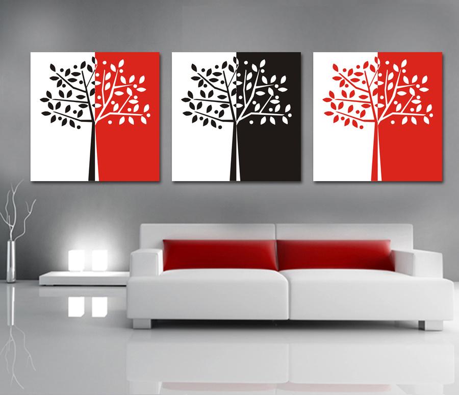 Tranh treo tường cây 3 màu 03