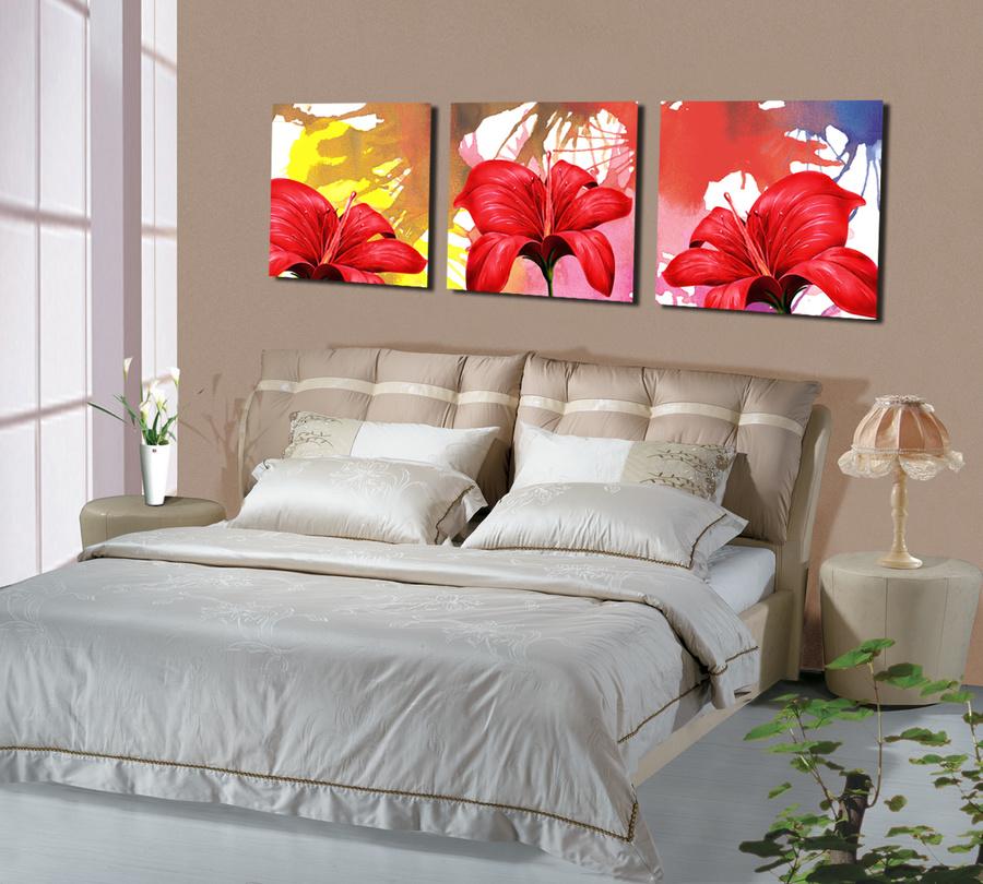 Tranh treo tường hoa đỏ nghệ thuật 3