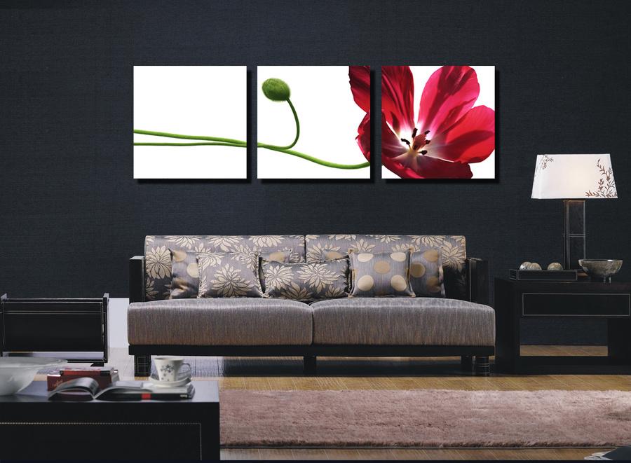 Tranh treo tường hoa đỏ nghệ thuật 2
