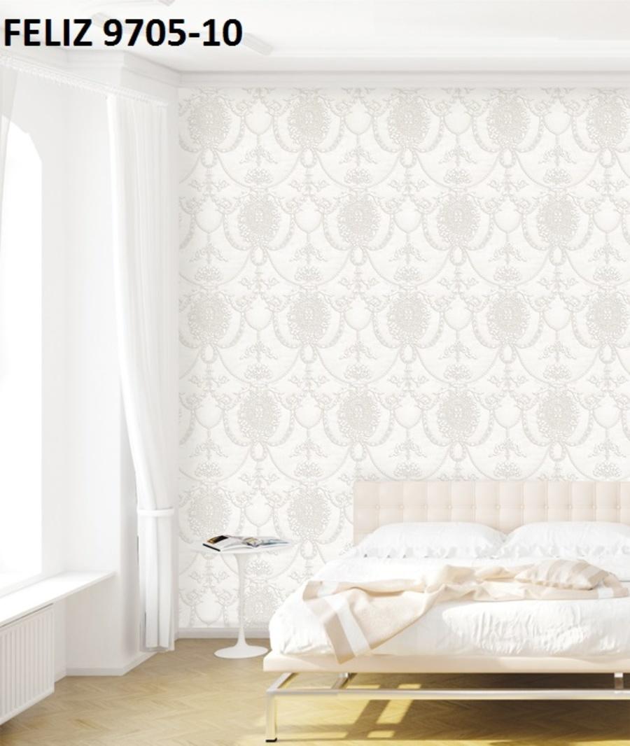 Giấy dán tường họa tiết cổ điển nền trắng 9705-10