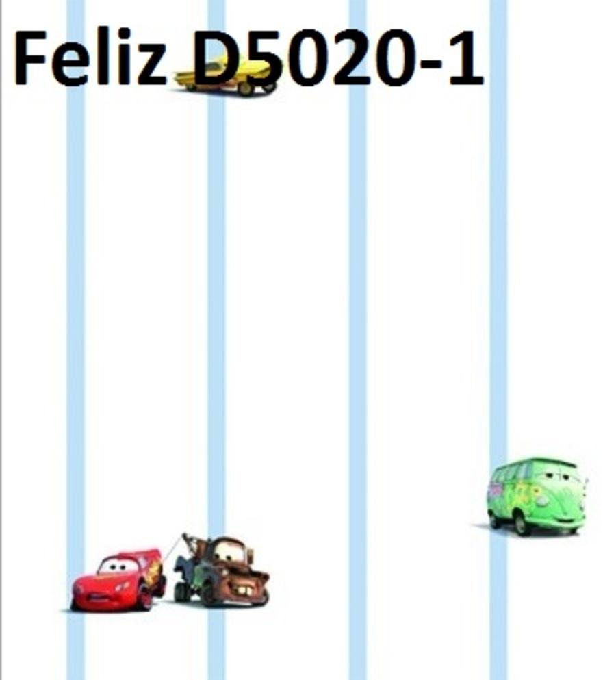 Giấy dán tường xe vui nhộn D5020-1