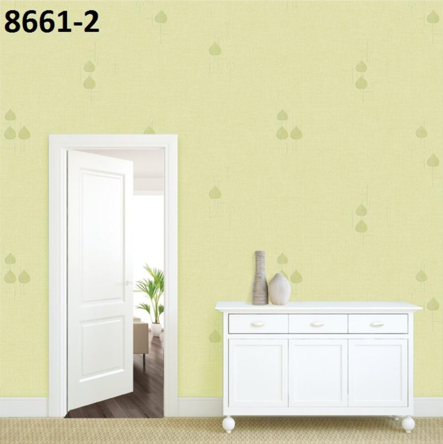 Giấy dán tường họa tiết lá xanh 8661-2
