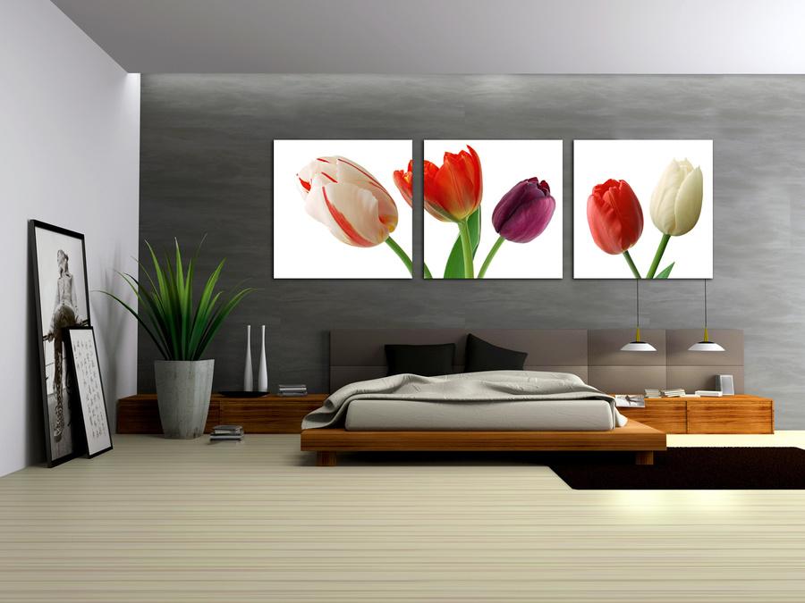 Tranh treo tường hoa tulip đa sắc 2