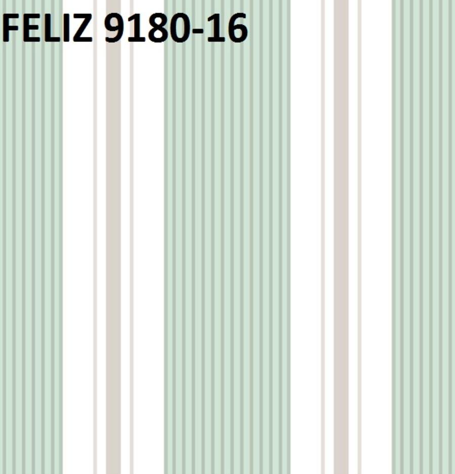 Giấy dán tường họa tiết sọc xanh lá 9180-16