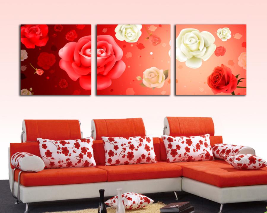 Tranh treo tường sắc màu hoa hồng