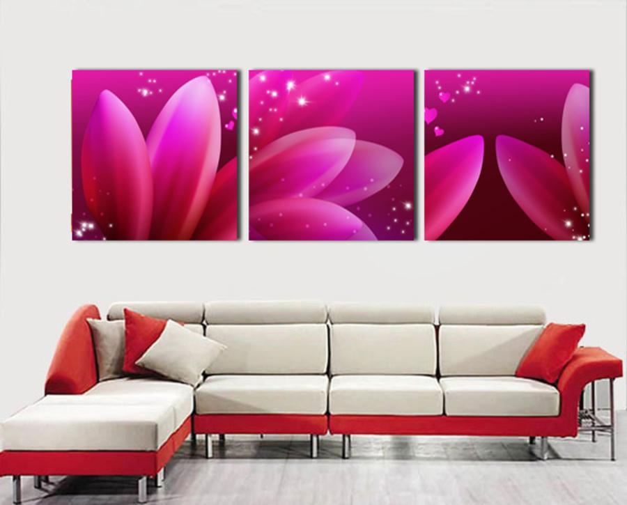 Tranh treo tường hoa cánh hồng 3