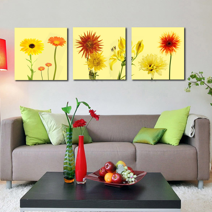 Tranh treo tường vườn hoa sắc màu