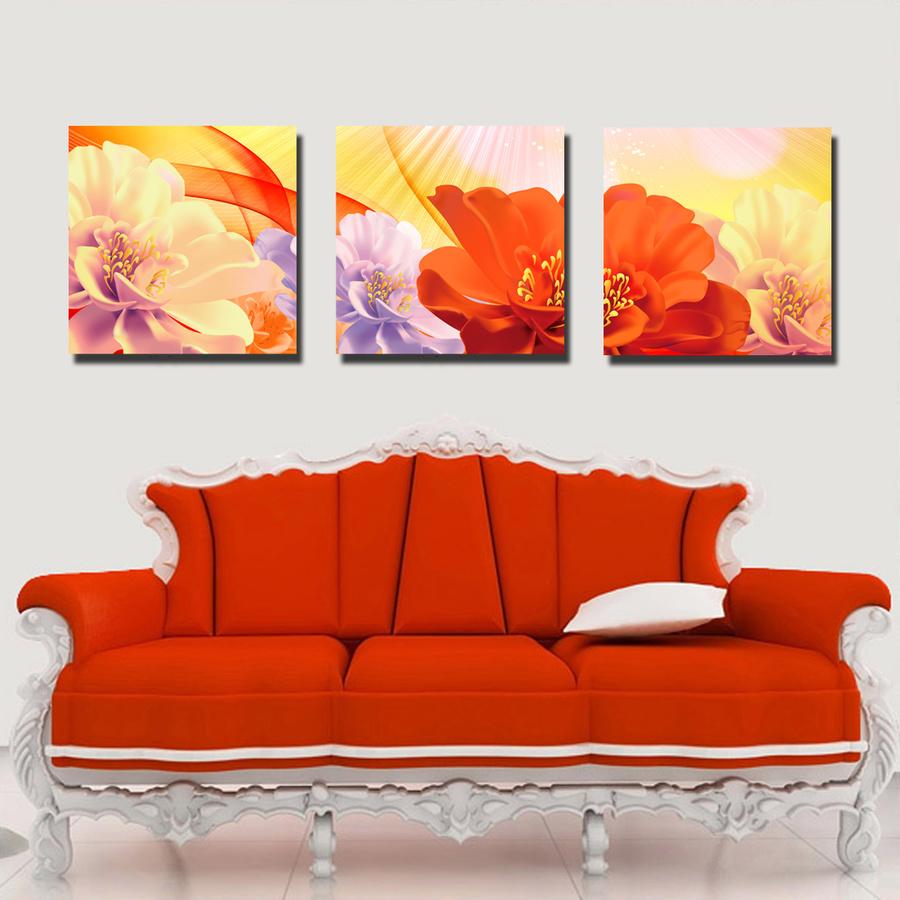 Tranh treo tường hoa đa sắc nghệ thuật