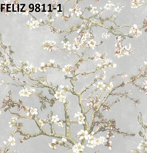 Giấy dán tường hoa mai trắng 9811-1