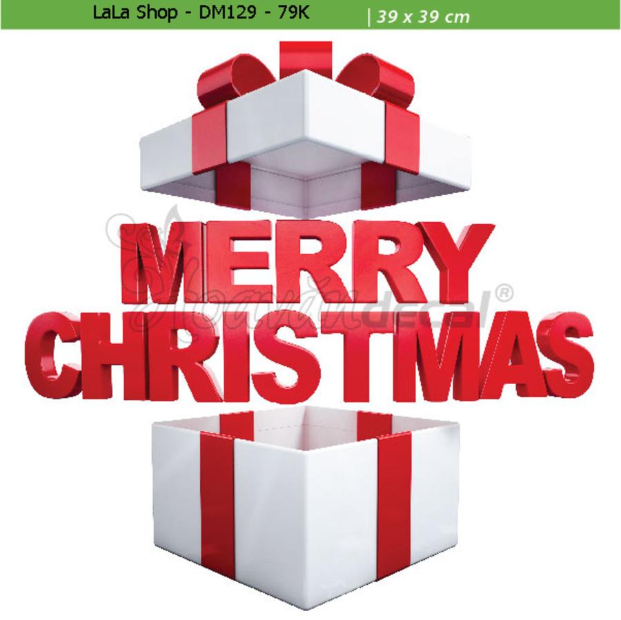 Hộp quà Noel (nền trắng đục)