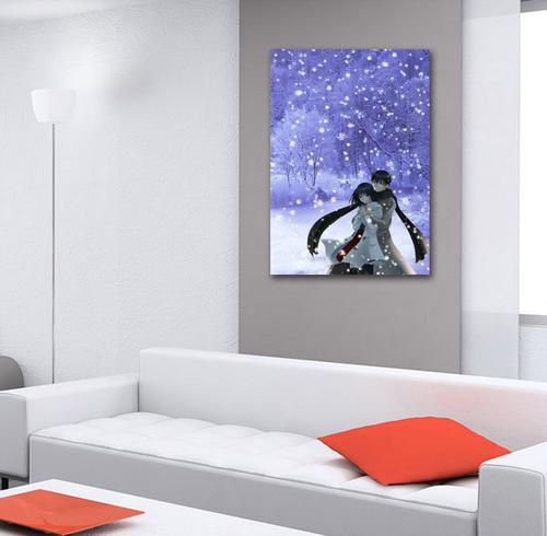 Tranh treo tường cặp đôi tuyết