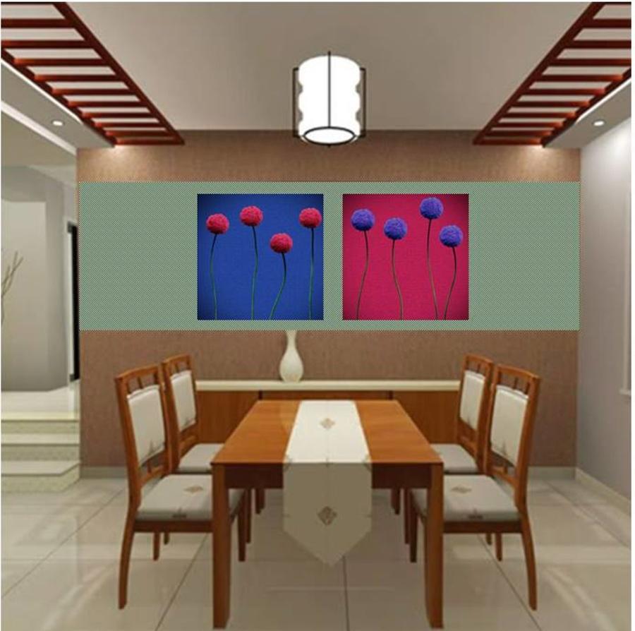 Tranh treo tường hoa tròn nghệ thuật