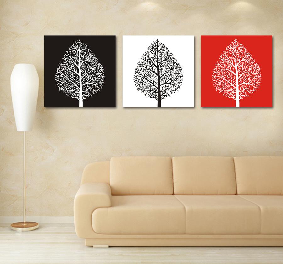 Tranh treo tường cây 3 màu nghệ thuật