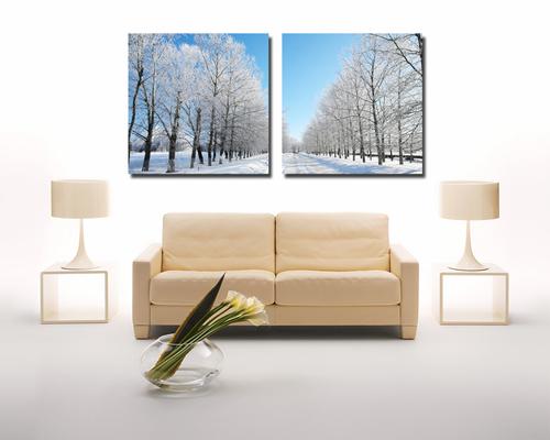Tranh treo tường rừng cây tuyết