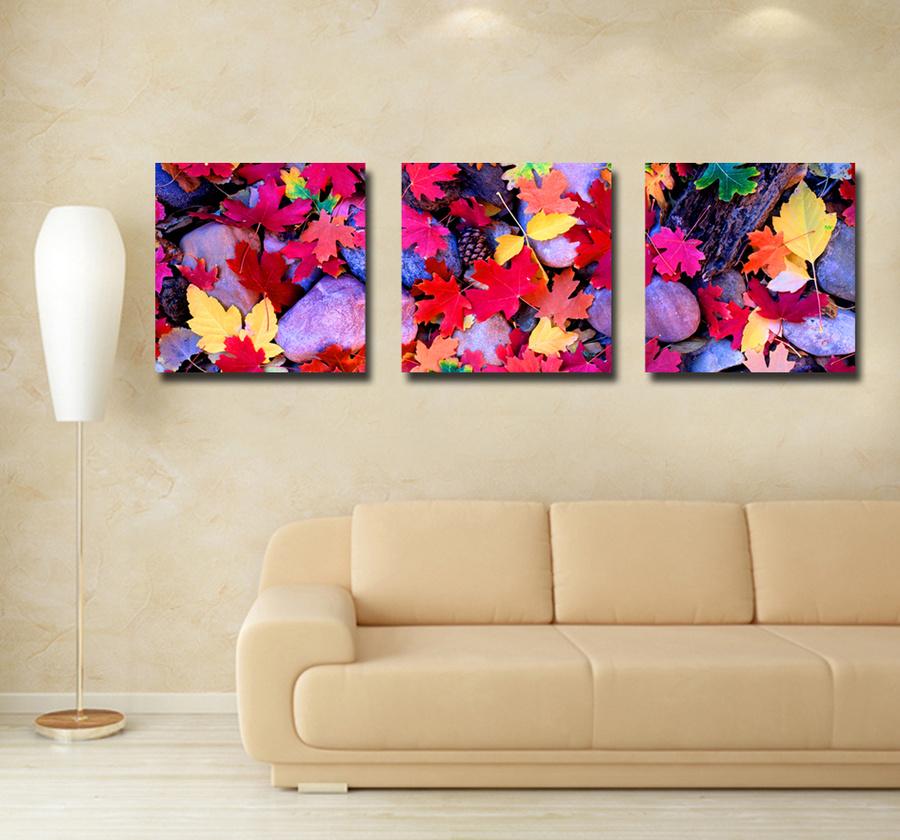 Tranh treo tường lá mùa thu nghệ thuật 3