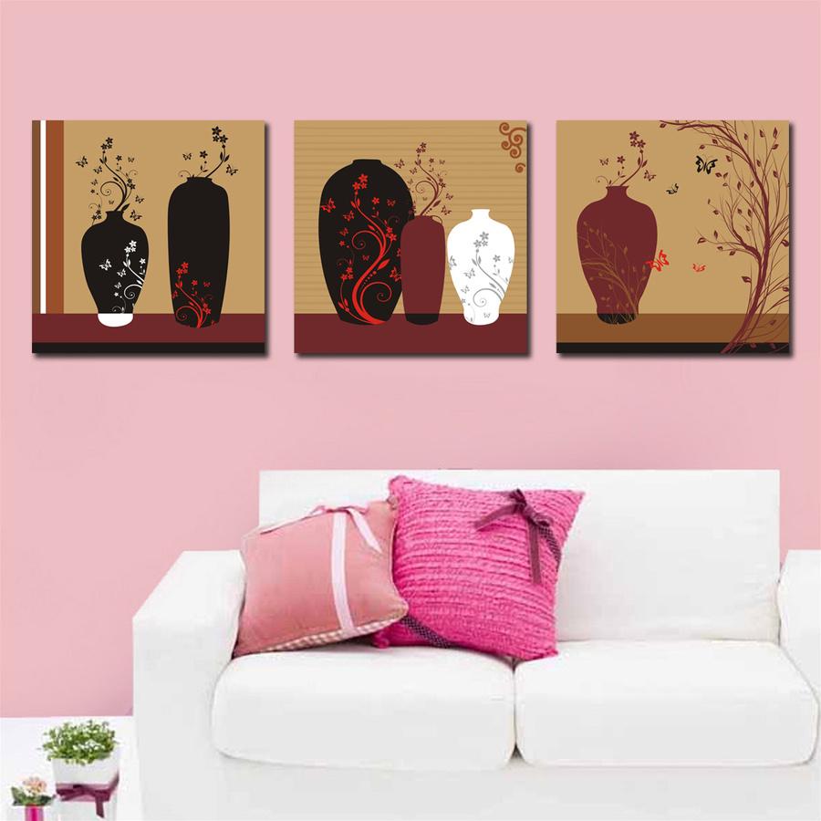 Tranh treo tường các bình hoa nghệ thuật 2