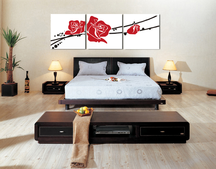 Tranh treo tường hoa hồng đỏ 2
