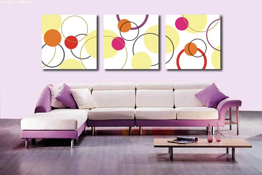 Tranh treo tường vòng tròn nghệ thuật 2