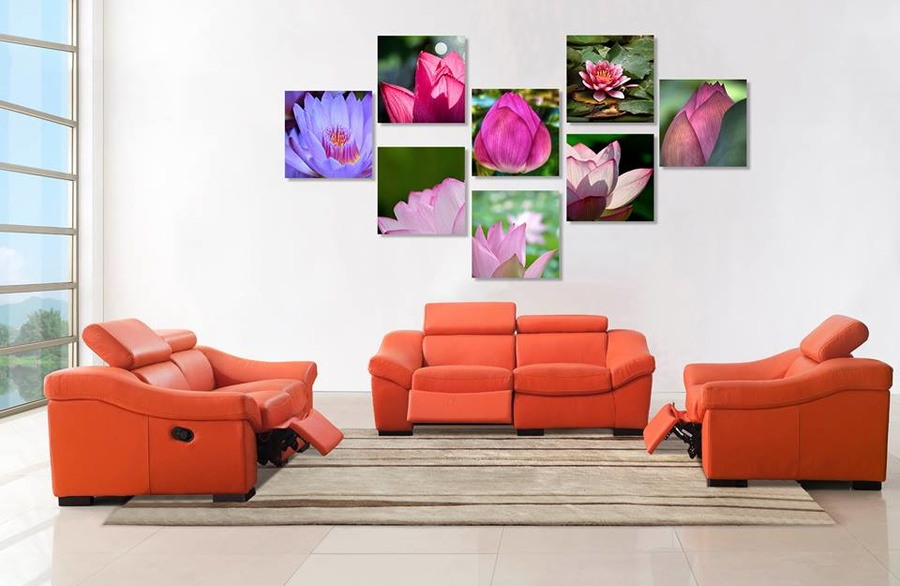 Tranh treo tường đầm sen hồng 2